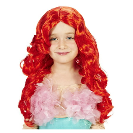 Red Mermaid Wig (Red Mermaid Child Wig)