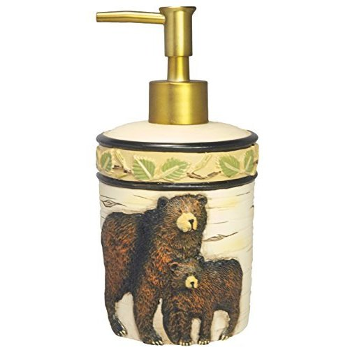 Park Designs Black Bear Soap Dispenser