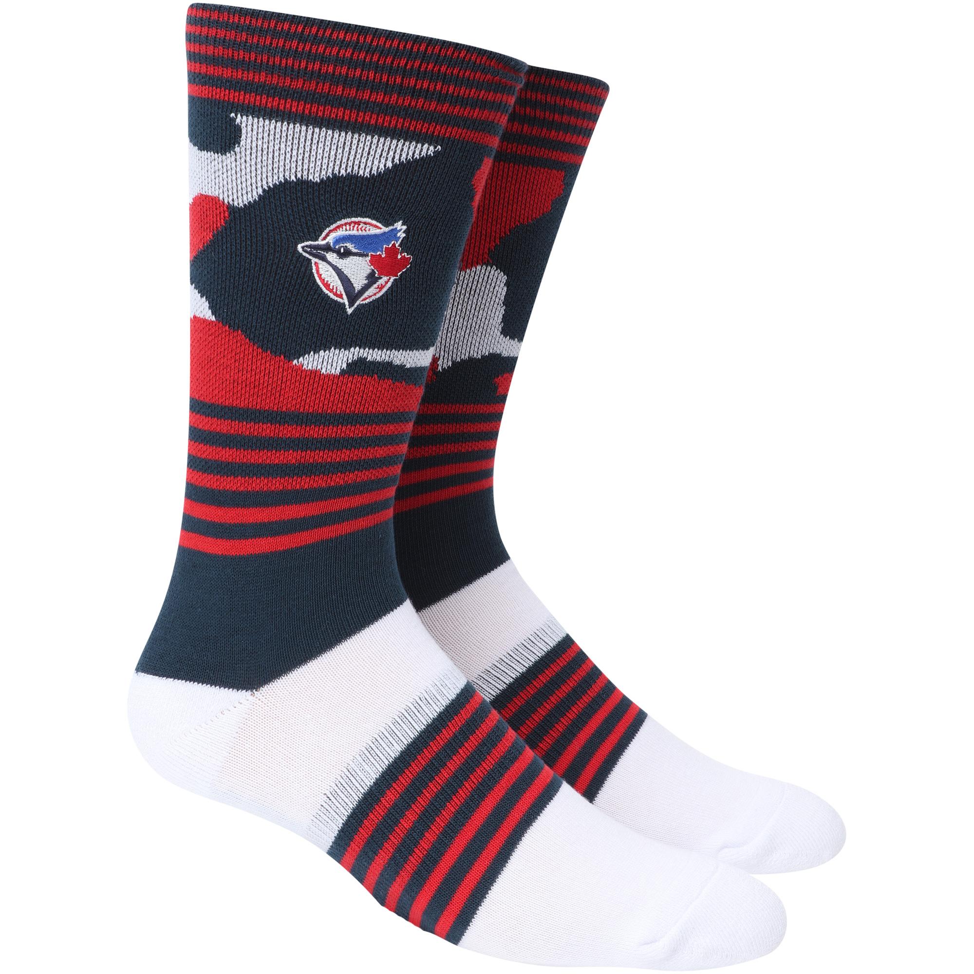 Toronto Blue Jays Camo Crew Socks - L