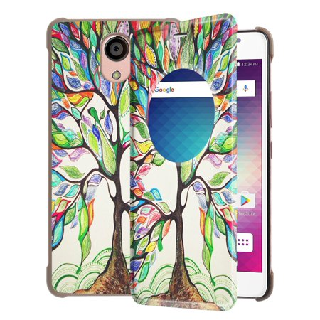 purchase cheap ec244 8d9ea Fintie BLU LIFE ONE X2 Case - [Quick View Window] Premium PU Leather [Slim  Flip] Protective Cover, Love Tree