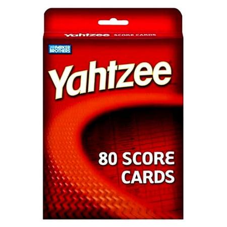 Yahtzee Score Cards Refill - Lawn Yahtzee
