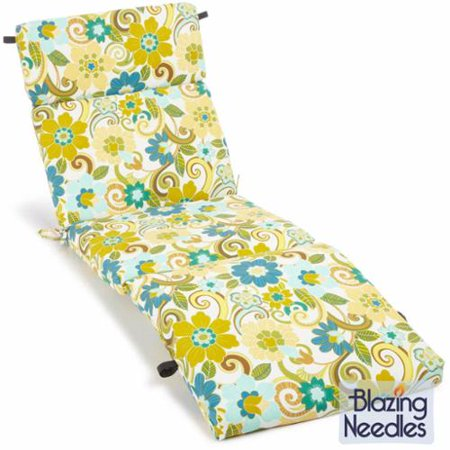 Blazing needles 72 inch all weather outdoor chaise lounge for Blazing needles chaise cushion