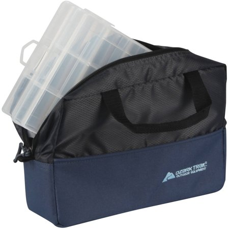 Ozark Trail Fishing Tote With Two Utility Trays, Blue/Black