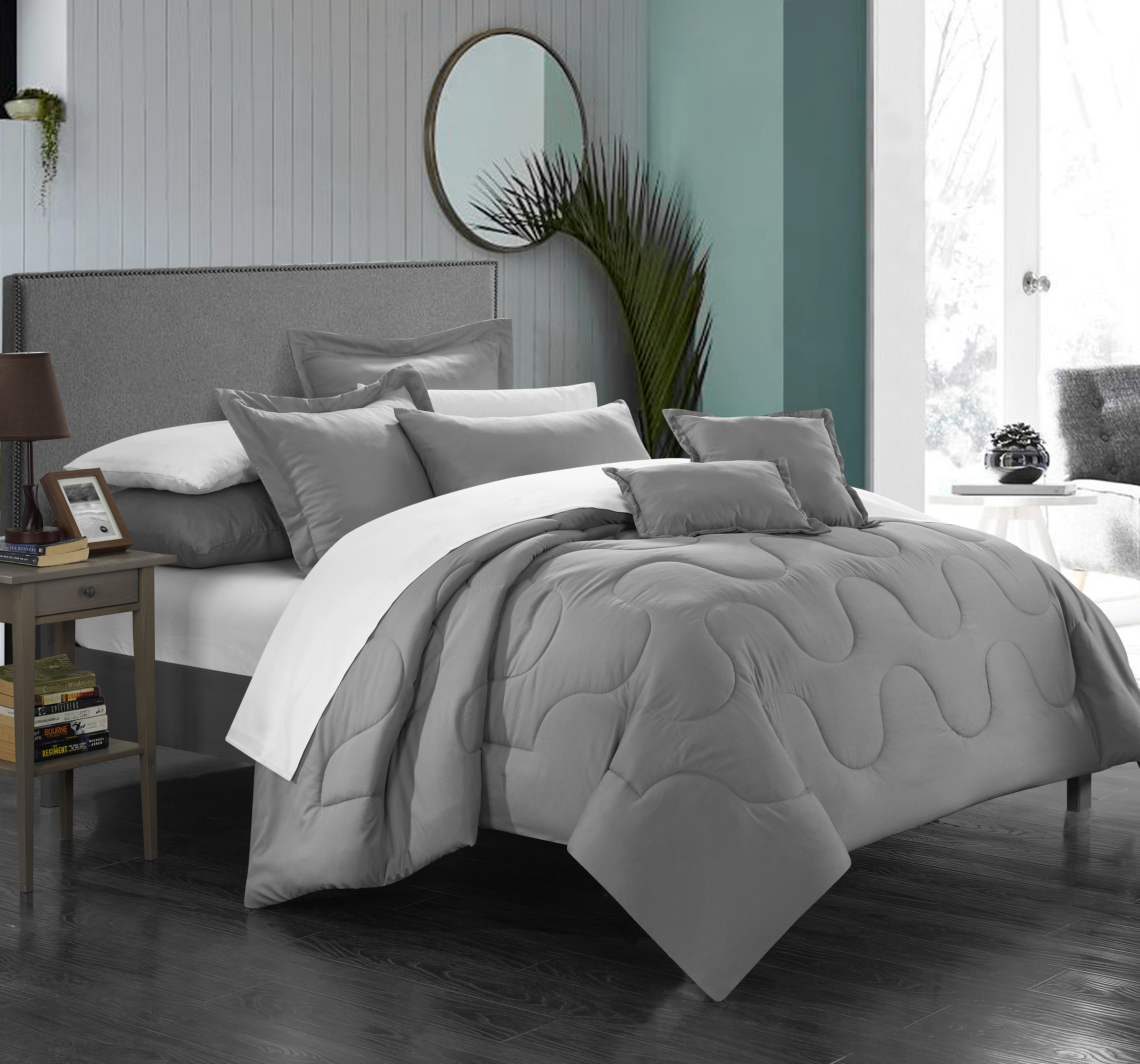 Chic Home 7-Piece Direllei Complete Solid Comforter Set