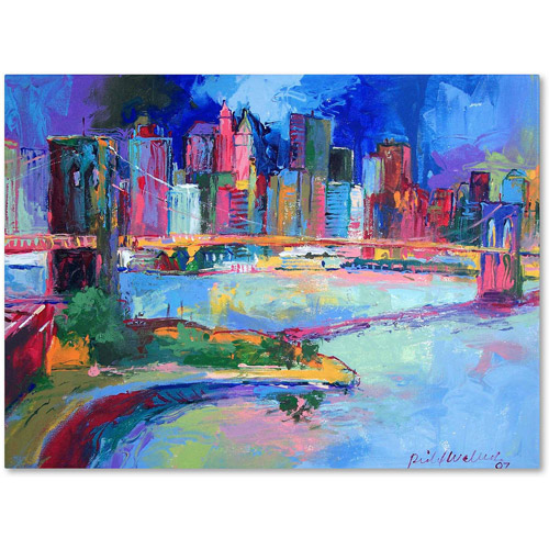 "Trademark Fine Art ""Brooklyn"" Canvas Art by Richard Wallich"