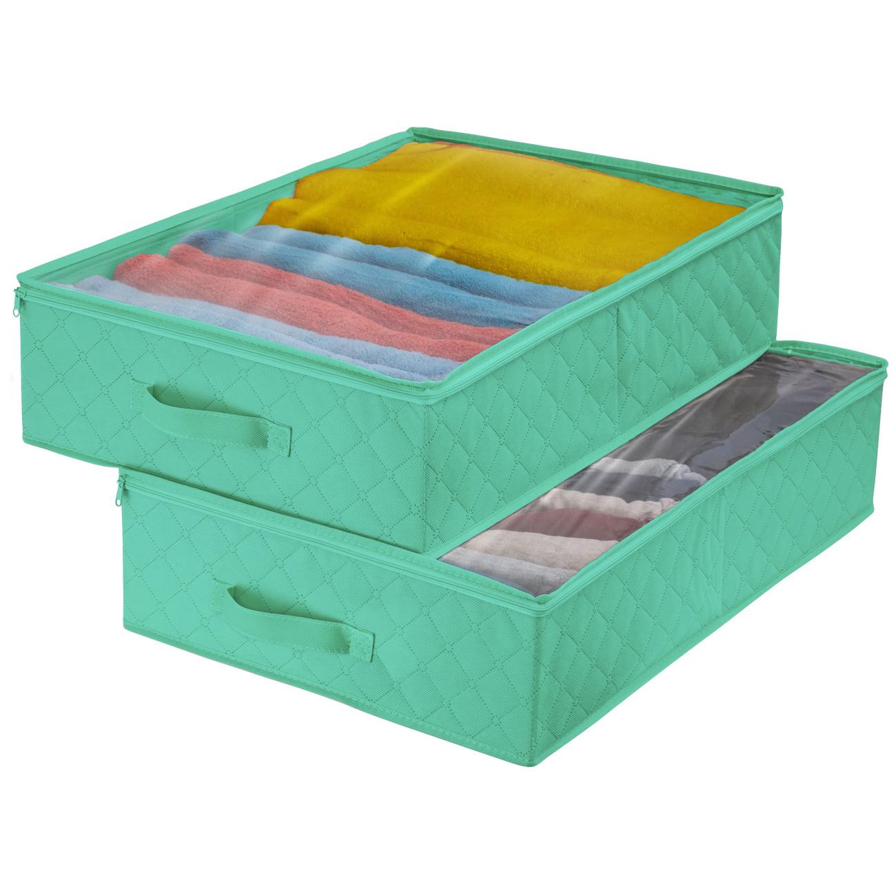 Storage Closet Organizer - Teal, (2 Pack)