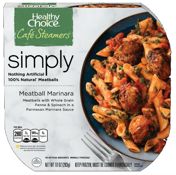 Healthy Choice Cafe Steamers Simply Meatball Marinara, 10 oz