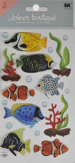 Jolee/'s Boutique Dimensional Stickers-Large Tropical Fish E5050285