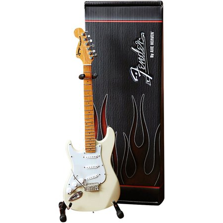 Axe Heaven Fender Stratocaster White with Reverse Headstock for Leftys Officially Licensed Mini Guitar
