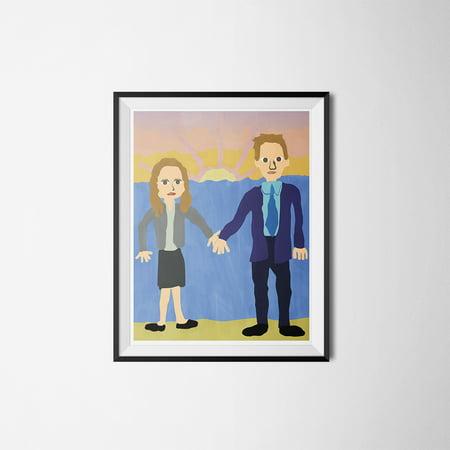 Jim & Pam Wedding Poster The Office Michael Scott Painting Dunder Mifflin 18x24 - The Office Halloween Jim And Pam