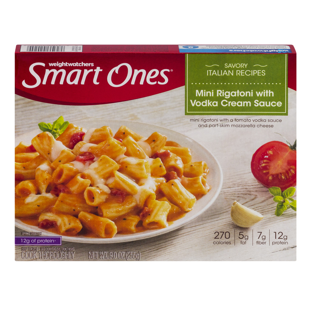Weight Watchers Smart Ones Savory Italian Recipes Mini Rigatoni With Vodka Cream Sauce, 9.0 OZ