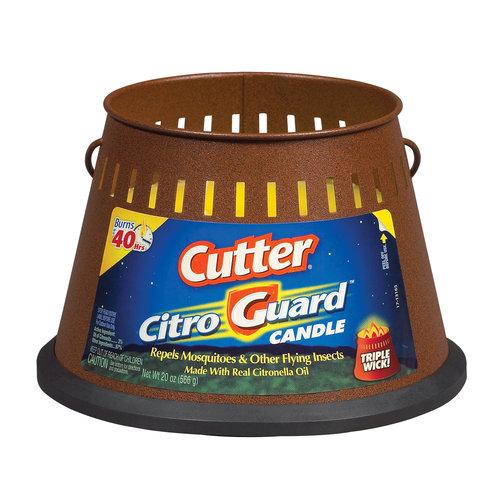 Cutter Citro Guard Citronella Candle, Triple Wick, 20-oz