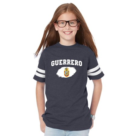Mexico State of Guerrero Youth Unisex Football Fine Jersey Tee