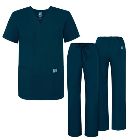 Adar Mens Medical Scrubs Set Medical Uniforms - Roomy Fit - 701 - CBB -3X