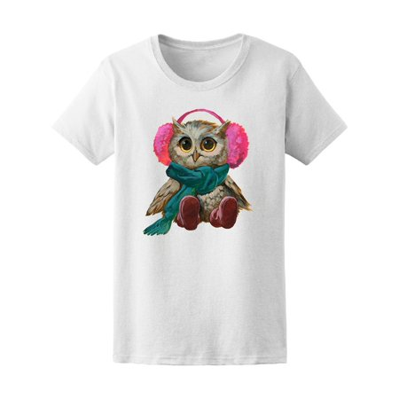 Cute Owl With Winter Clothes Tee Women's -Image by
