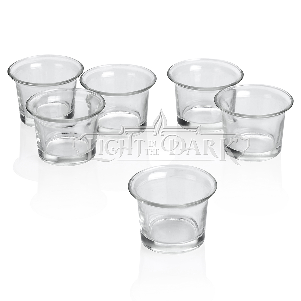 Clear Glass Lip Votive Candle Holders With Set of 12 by
