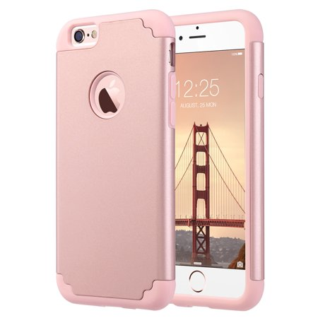 cheap for discount b316e aeeb3 iPhone 6 Case, iPhone 6S Case (4.7 inch), ULAK Slim Dual Layer Protection  Scratch Resistant Hard Back Cover Shockproof TPU Bumper Case for Apple ...