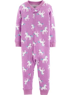 Little Planet Organic by Carter's Baby Toddler Girl 1pc Cotton Snug Fit Footless Sleeper Pajamas