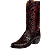 Lucchese Western Boots Mens Hornback Caiman Tail Calf Brown M2692