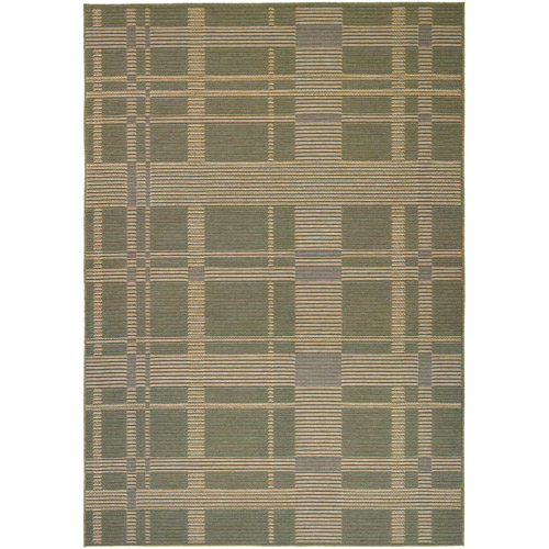 Couristan Berkshire Taconic Flat Woven Courtron Rug, Green and Corn