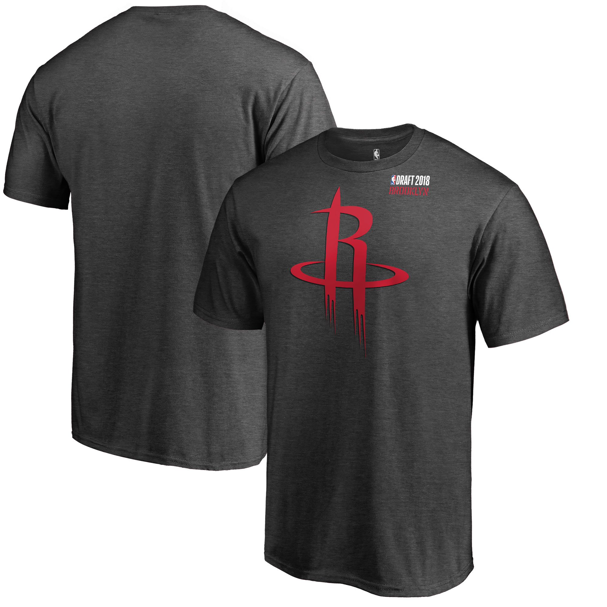 Houston Rockets Fanatics Branded 2018 NBA Draft BKLYN T-Shirt - Heather Gray
