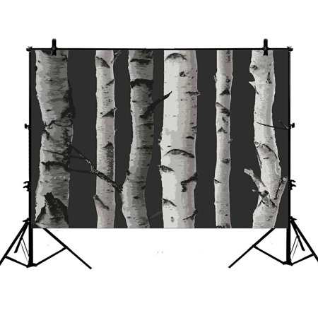ZKGK 7x5ft Birch Tree Polyester Photography Backdrop For Studio Prop Photo Background