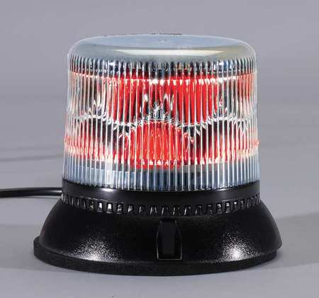 PSE AMBER LSS222CR Dual Level Strobe Light, Red, Perm, LED