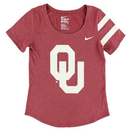 Nike Womens Oklahoma Sooners Dna Scoop T Shirt Red