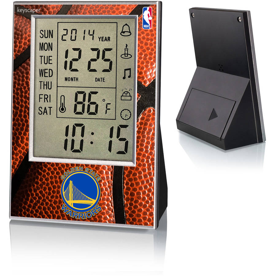 Golden State Warriors Basketball Design Digital Clock by Keyscaper