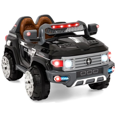 Best Choice Products Kids 12V Electric RC Truck Ride On w/ 2 Speeds, LED Lights, MP3, AUX,