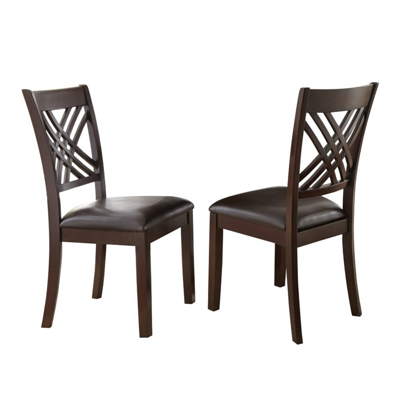 Steve Silver Adrian Dining Chair in Espresso Cherry (set of 2) by Steve Silver Company