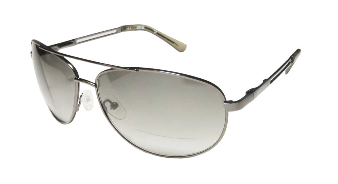 Kenneth Cole Reaction Aviator Sunglasses  kenneth cole men s aviator gunmetal sunglasses com