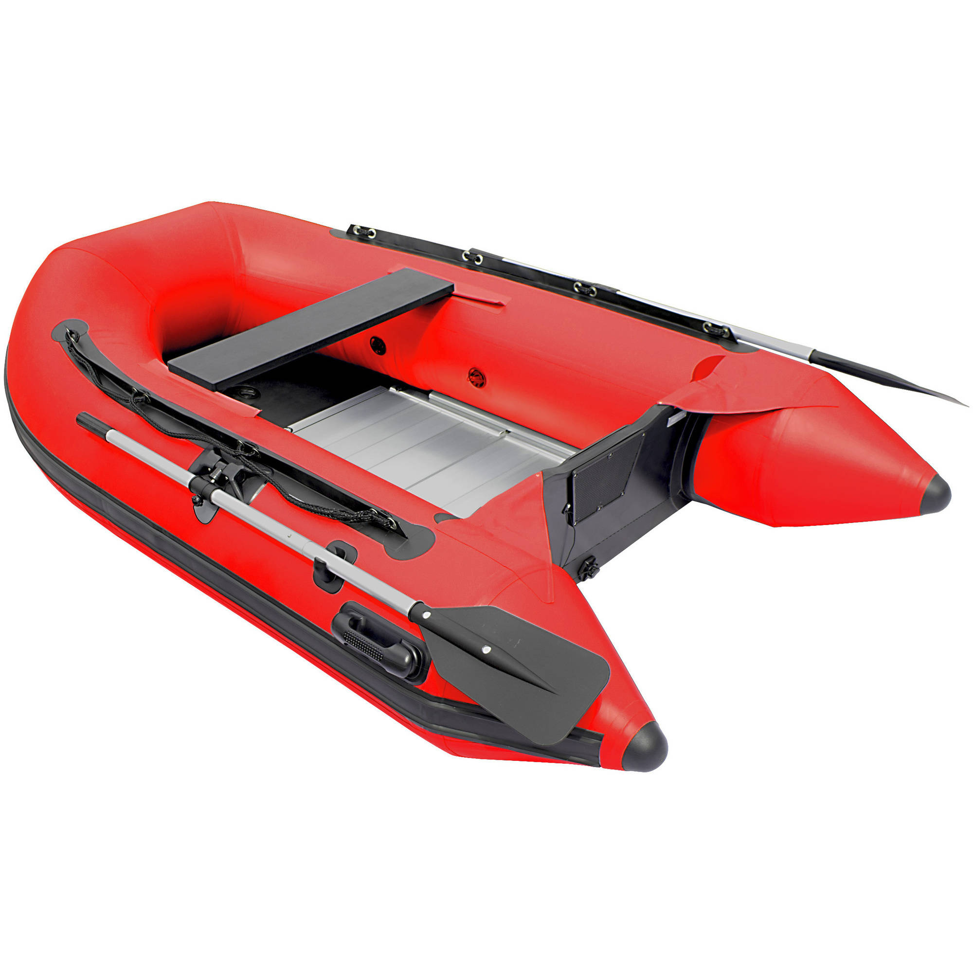 ALEKO Inflatable Boat - 3 Person - Aluminum Floor- 8.4 Feet - Red