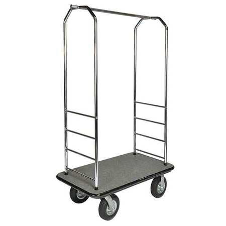 CSL 2000BK-040-BLK Bellman Cart, Chrome, Black Carpet