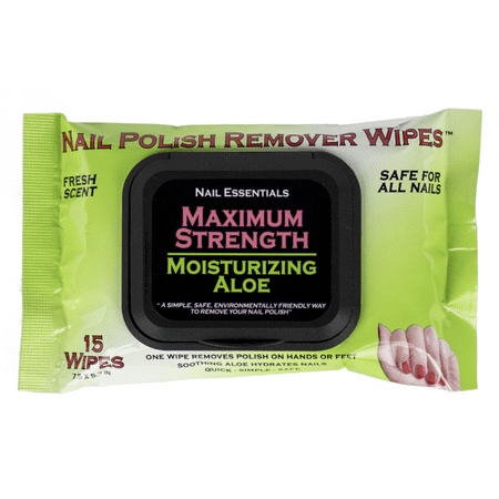 (2 Pack) Nail Essentials Nail Polish Remover Wipes - Moisturizing Aloe ()