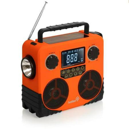 Ivation Solar   Dynamo Am Fm Noaa Radio  Bluetooth Stereo Speaker  Phone Charger