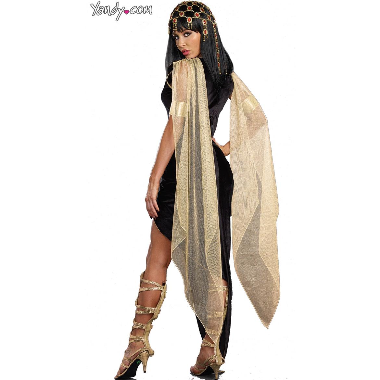 4dd3084fc93 Naughty Cleopatra Costume Dreamgirl 9833 Black/Gold
