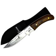 Joy Enterprises FP74416 Fury Mustang Wildlife Collector's Series Fixed Blade Knife with Nylon Sheath, 8""