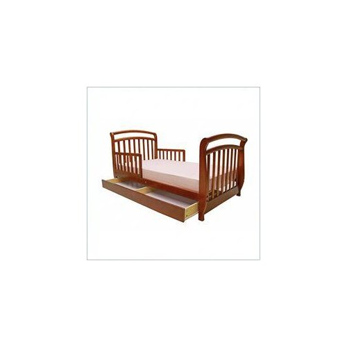Dream On Me Deluxe Sleigh Toddler Bed with Drawer