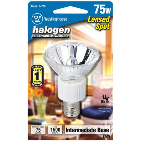 Intermediate Base Halogen Spotlight Light Bulb-75W NARROW SPT HLGN (Par16 Halogen Narrow Spot)