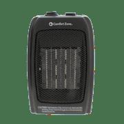 Comfort Zone CZ442 1500-Watt Ceramic Electric Portable Heater, Black