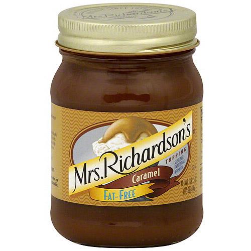 Mrs. Richardson's Fat Free Caramel Topping, 17.5 oz (Pack of 6)