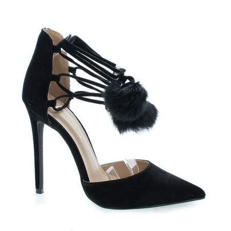 Kiola by Shoe Republic, Black Suede D