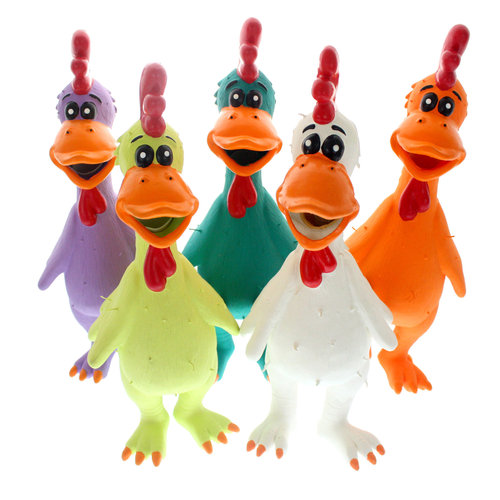 Walmart Latex Chicksworth Dog Toy, Color Will Vary, 1ct