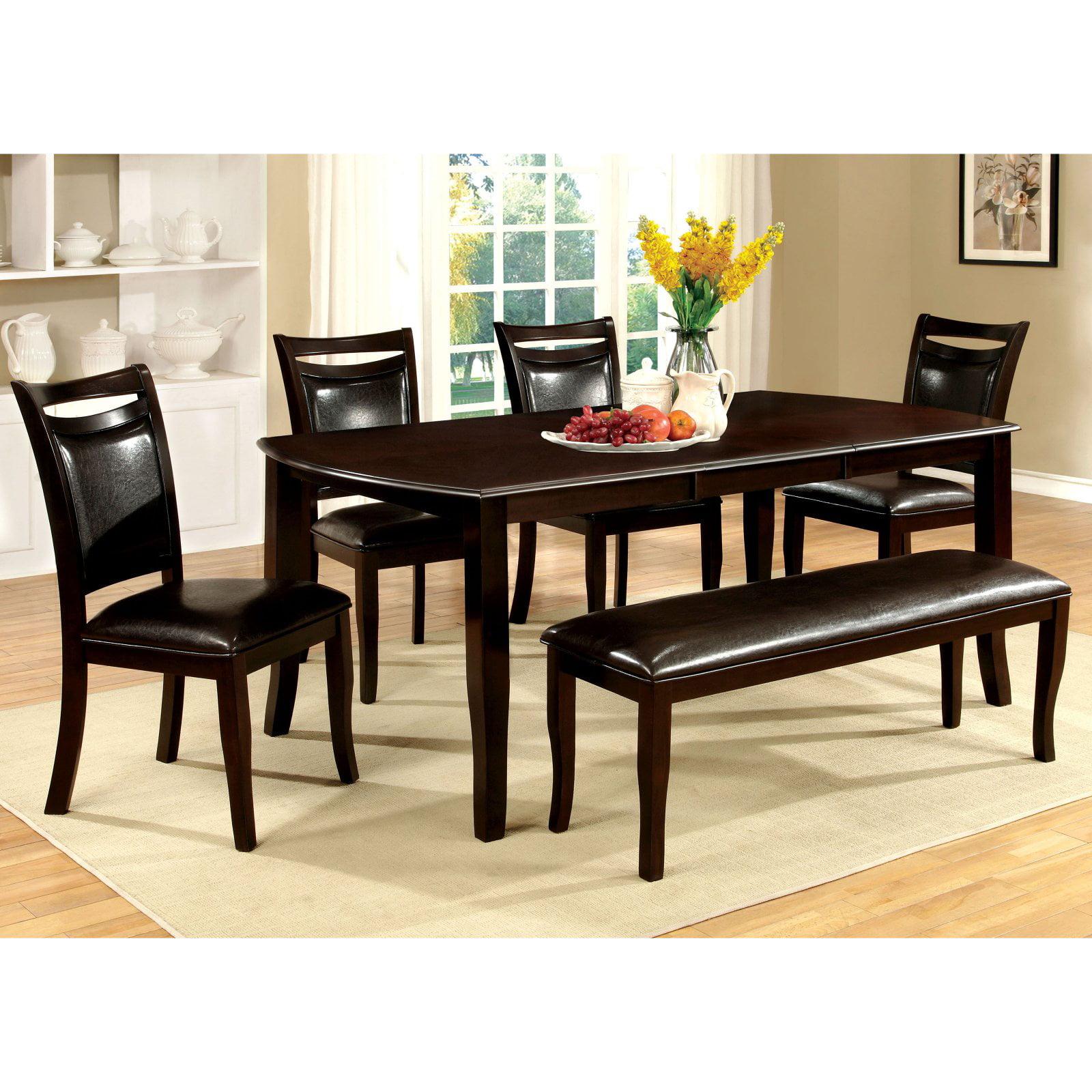 Furniture of America Ridgeway 6 Piece Dining Table Set