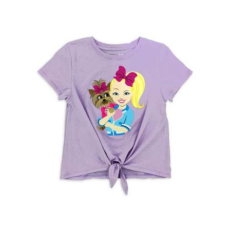 Jojo Siwa Girls Tie-Front Graphic T-Shirt, Sizes 4-16