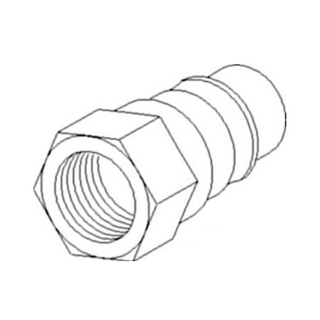 75540-66220 New Hydraulic Male Coupler Made to fit Kubota