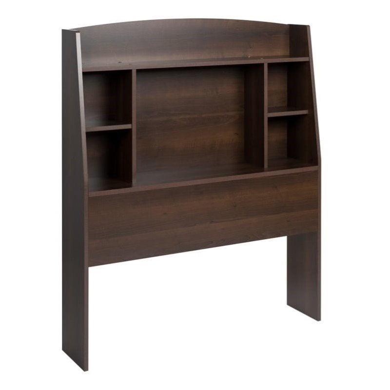 Hawthorne Collections Twin Bookcase Headboard in Espresso