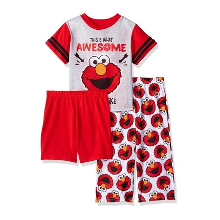 Sesame Street Elmo Toddler Boys 3 piece Pajamas Set 21SS204EZS