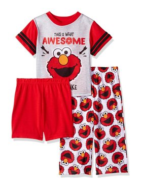 Sesame Street Elmo Toddler Boys 3 piece Pajamas Set 21SS204EZS